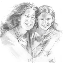 Charcoal portrait by Dianne Robbins